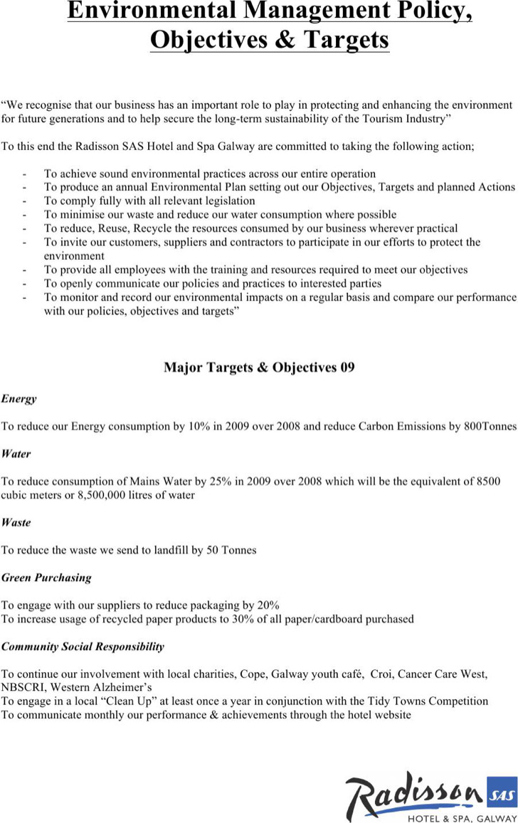 Environmental Management Policy Template