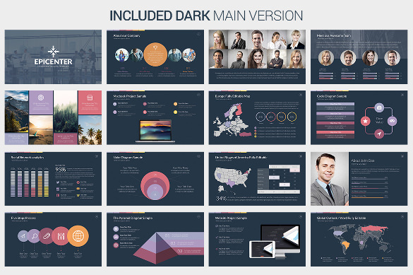 Epicenter Creative PowerPoint Template Premium Printable Download