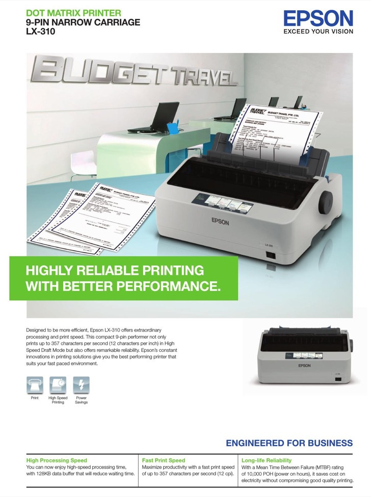 Epson Specifications Sample
