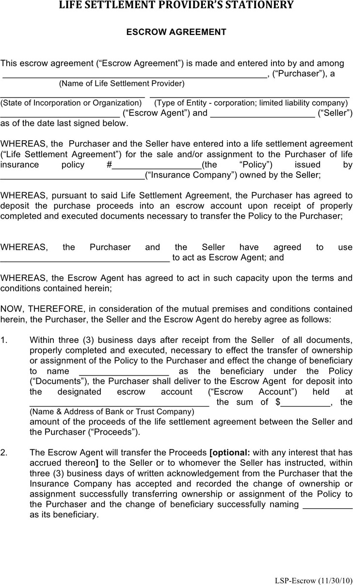 Escrow Agreement 2
