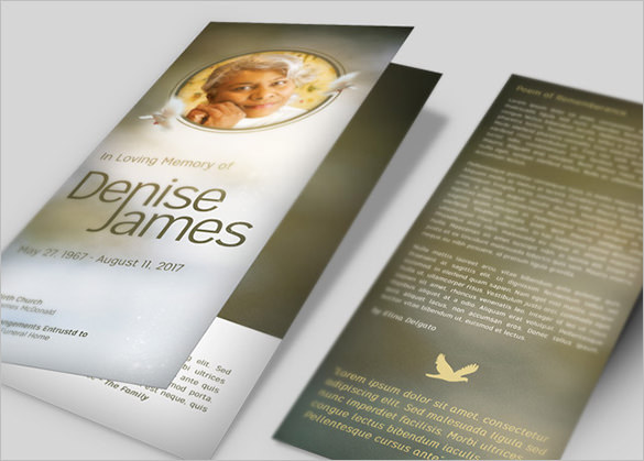 Essence of Love Funeral Brochure Template