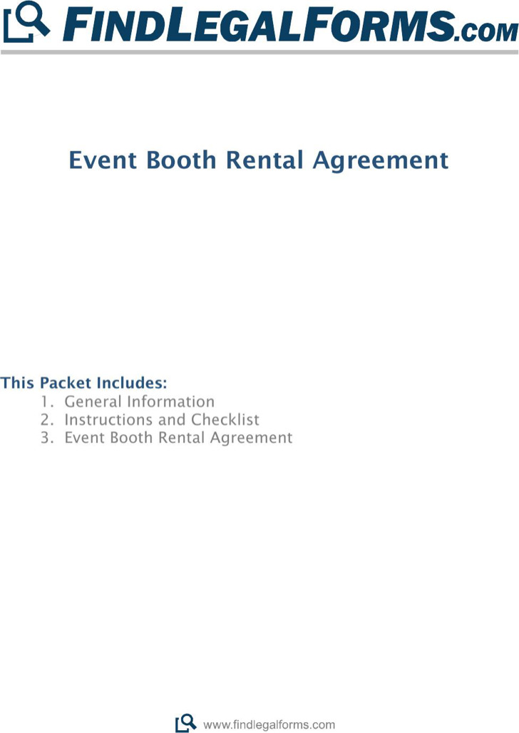 Event Blank Booth Rental Agreement