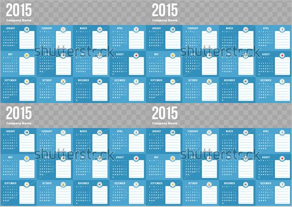Event Calendar 2015 Template