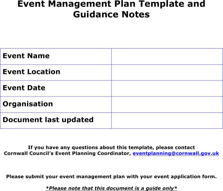 6 event outline templates free download