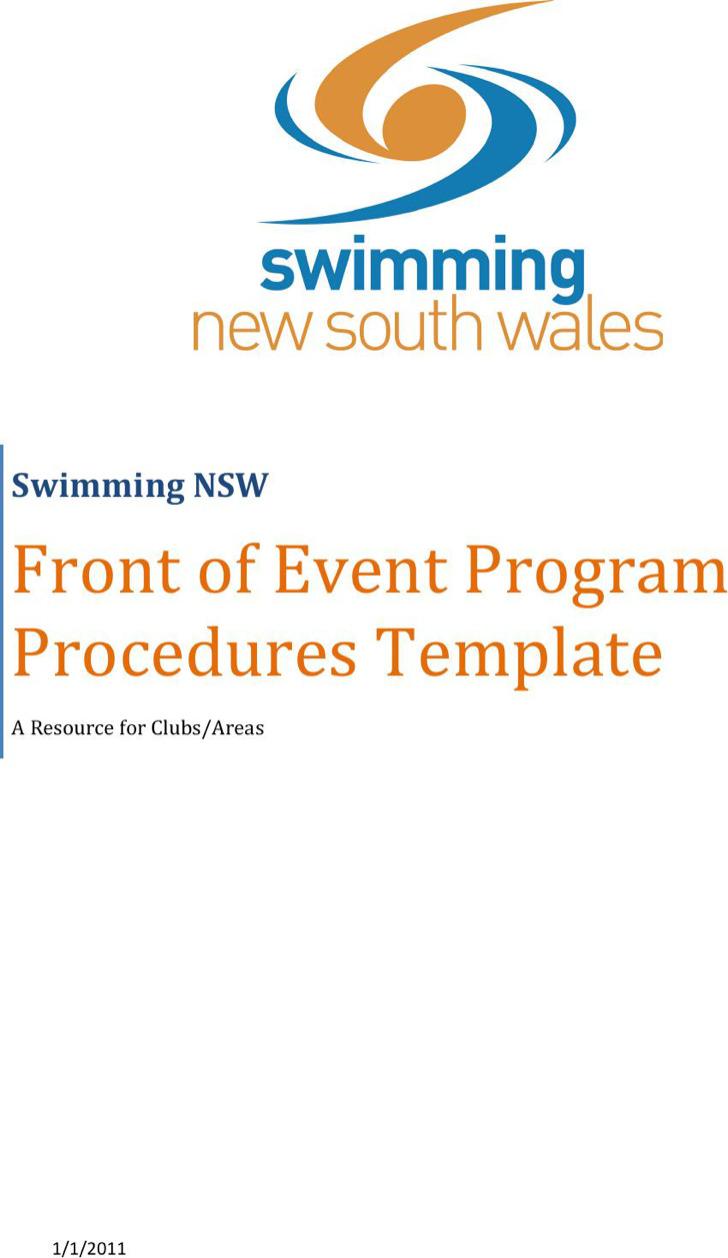 Event Program Template Word
