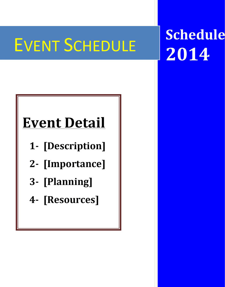 Events Calendar Template