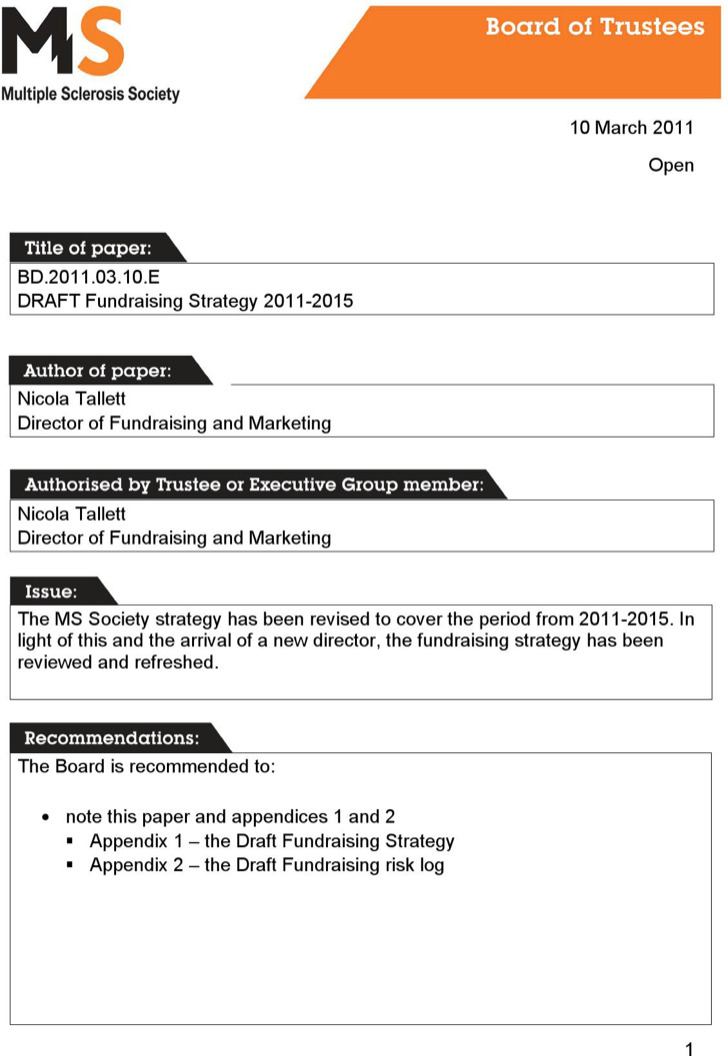 Events Fundraising Strategy Template