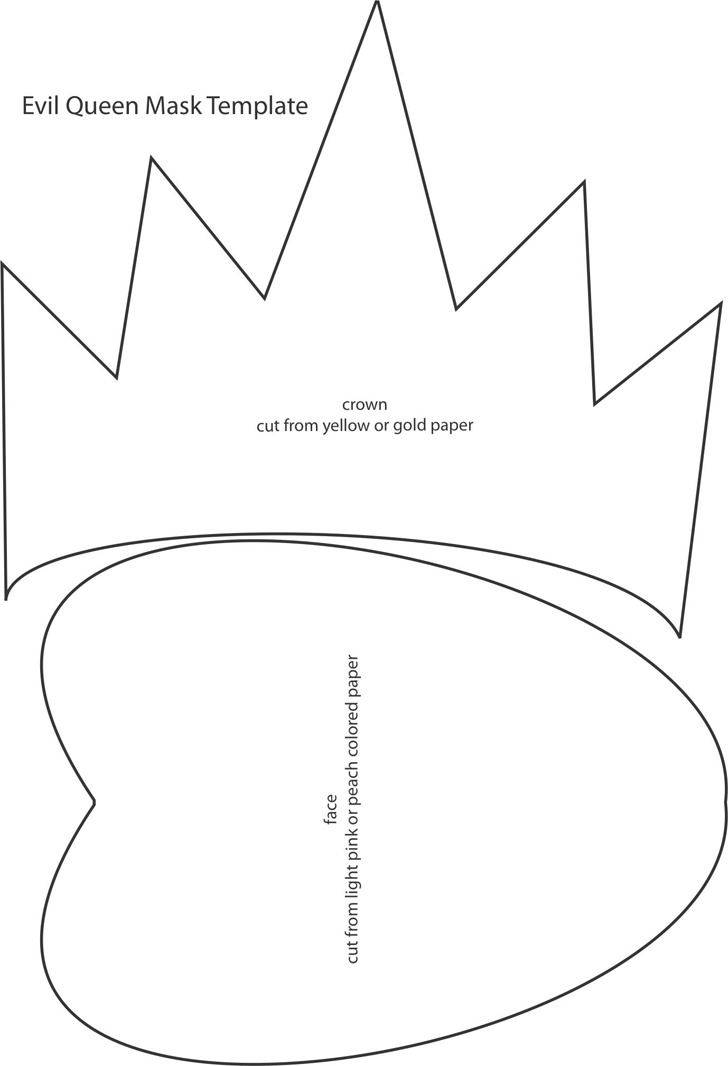 Evil Queen Mask Template