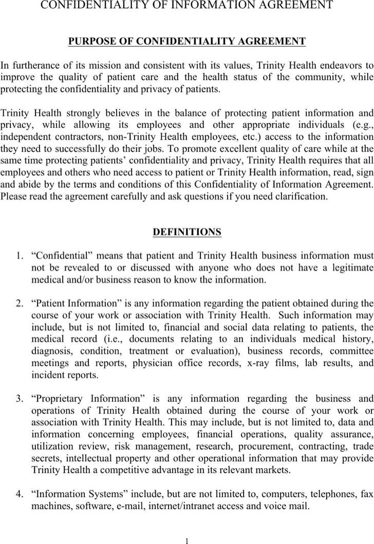 Sample Confidentiality Agreements - IPWatchdog.com ...