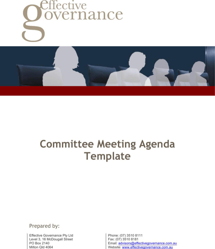 Example Committee Meeting Agenda Template For Emergency
