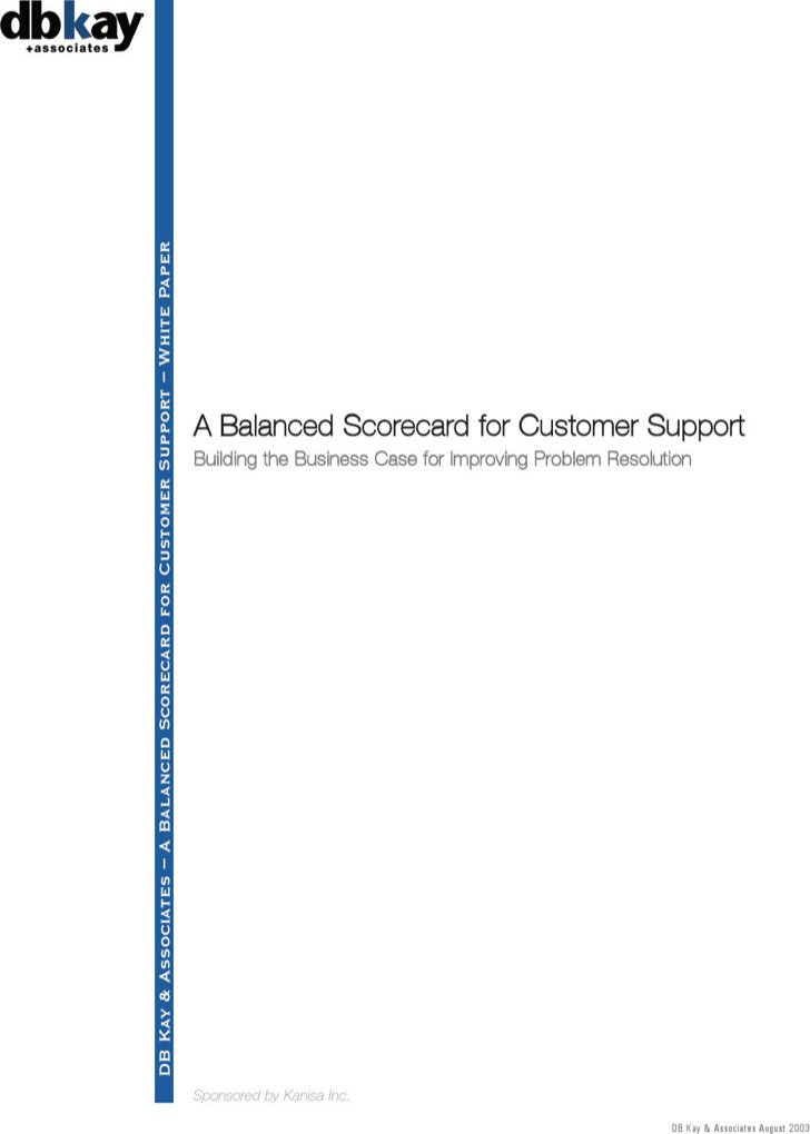 Example Customer Service Performance