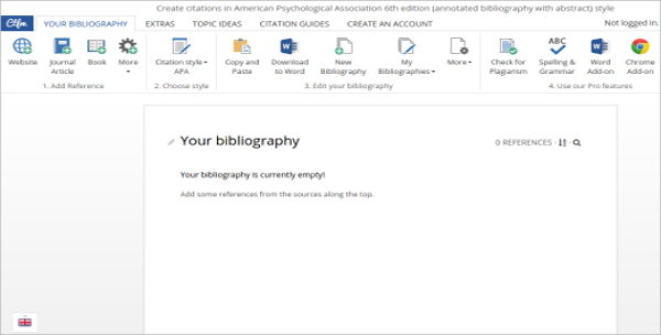 Example Editable Annotated Bibliography with Abstract Free Download