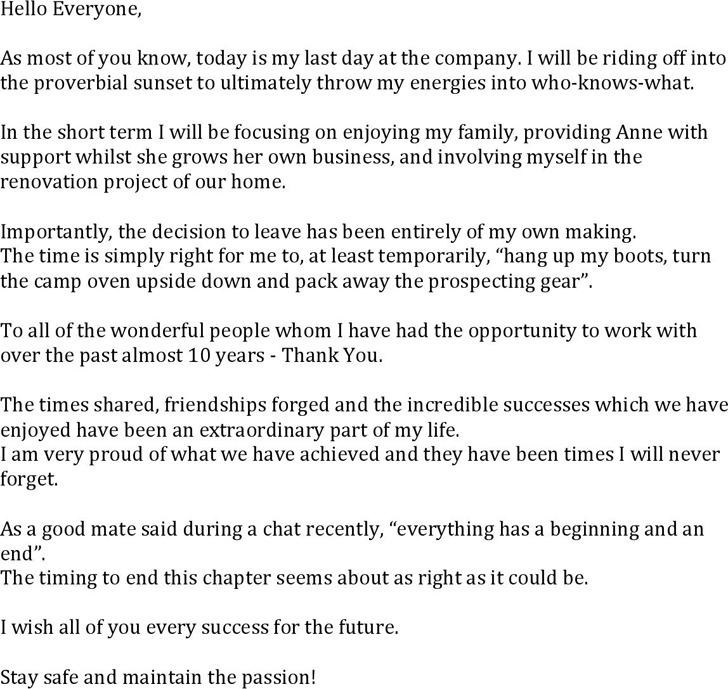 Example Farewell Retirement Speech