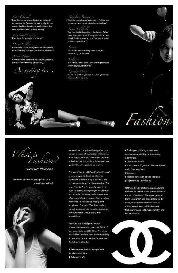 Example Fashion Brochure