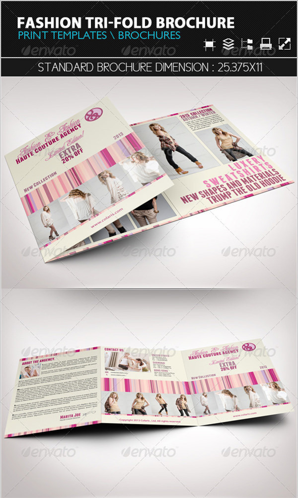 Example Fashion Tri-Fold Brochure Template