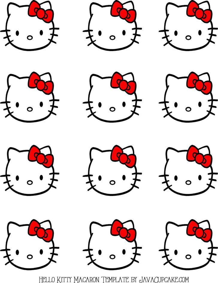 Example Hello Kitty Macaron Template PDF