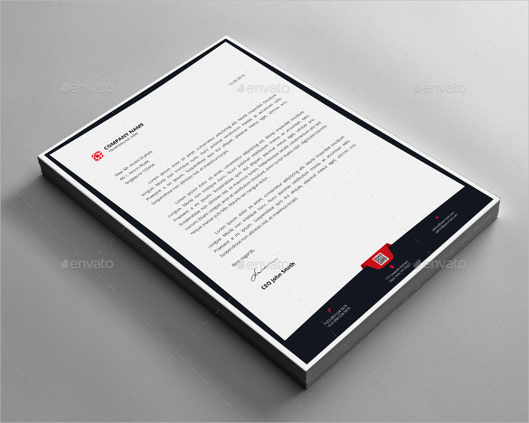Example Letterhead Design Template