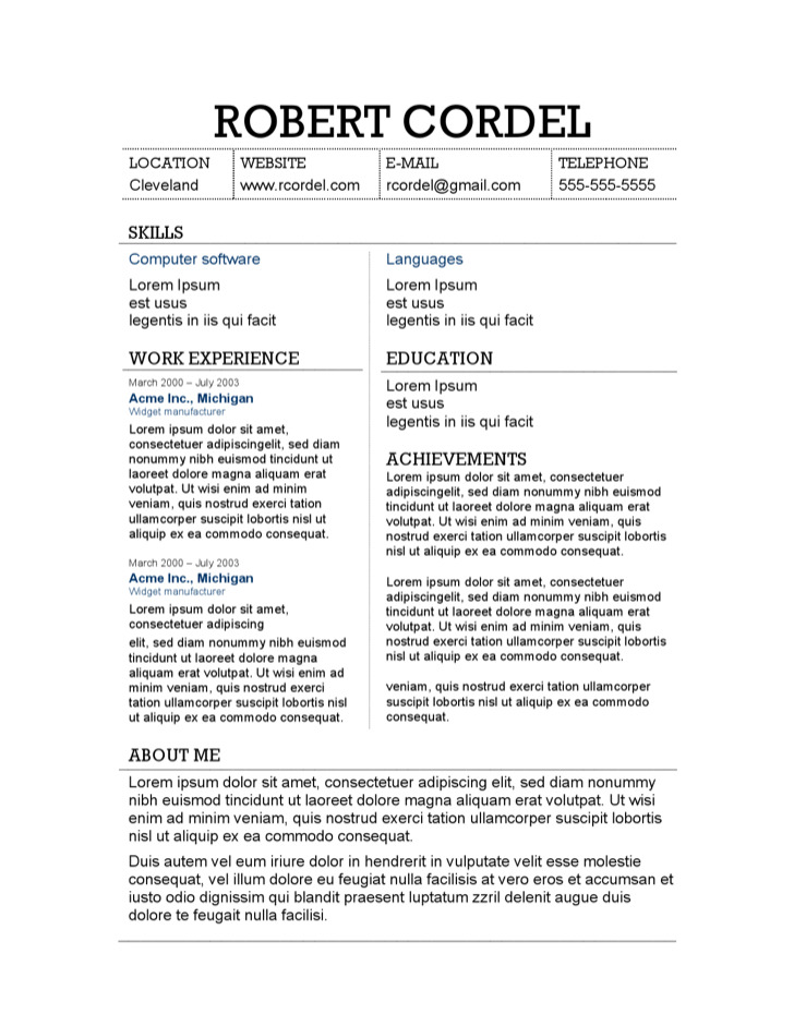 2  harvard resume template free download