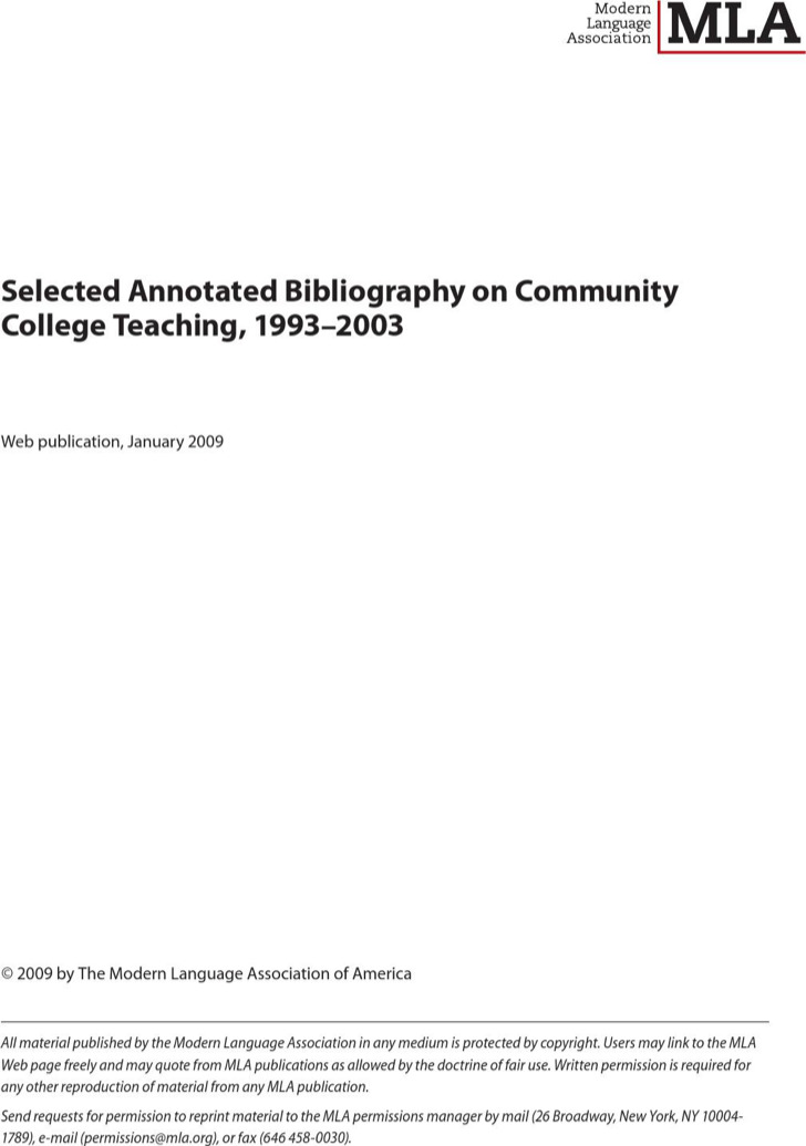 Example Of Teaching Multiple Intelligences Annotated Bibliography Template