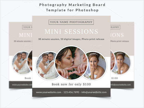 Example Photography Marketing Board Template
