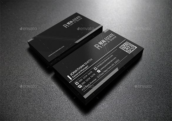 Excecutive Premium Black Business Card