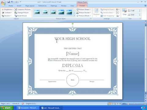 Excellence Certificate Template For Student