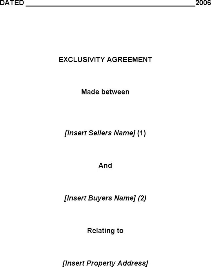 Download Exclusivity Agreement Template For Free Tidytemplates