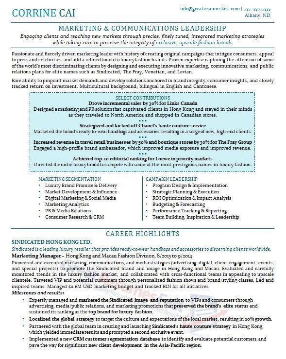 Executive Resume Examples