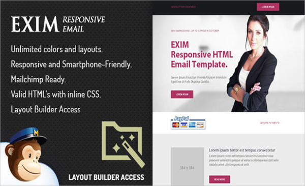 Exim Email Newsletter Template