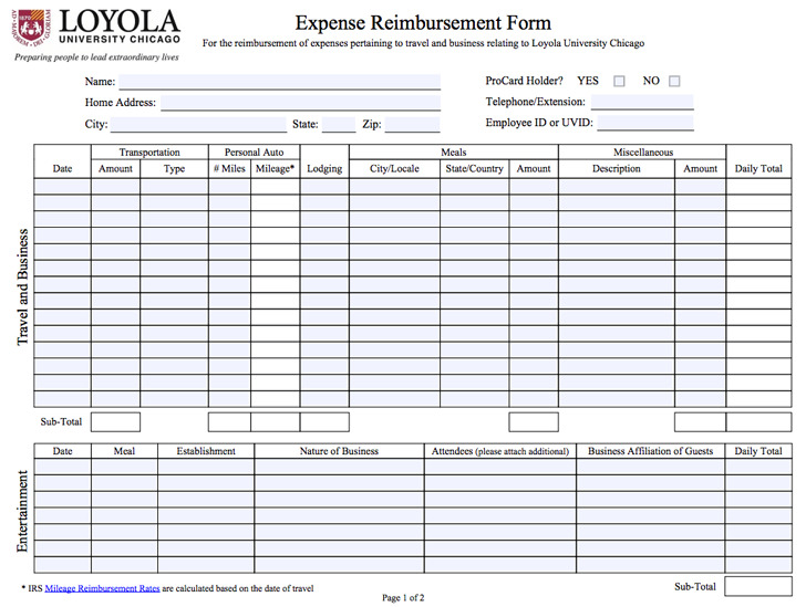 Expense Form
