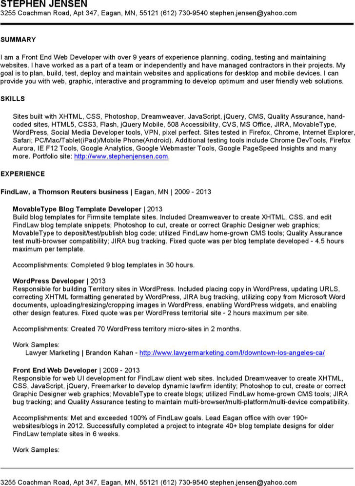 6 Interactive Resume Templates Free Download