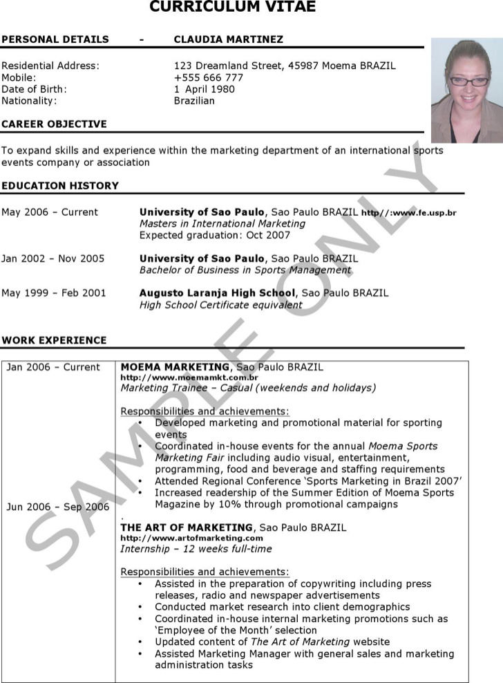 Experinece Work Resume
