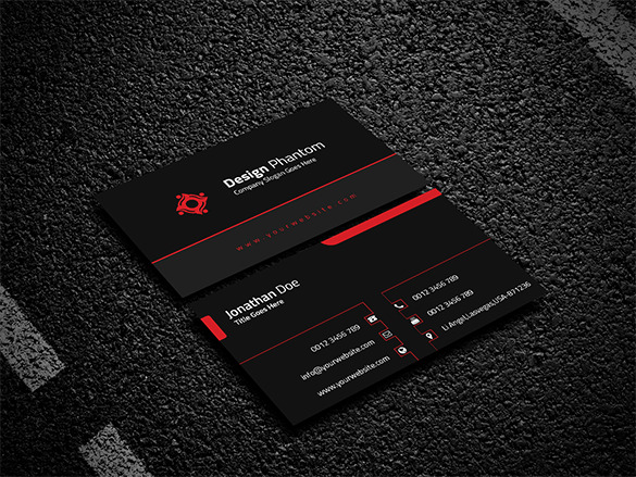 Fabulous Black Business Card Premium Download