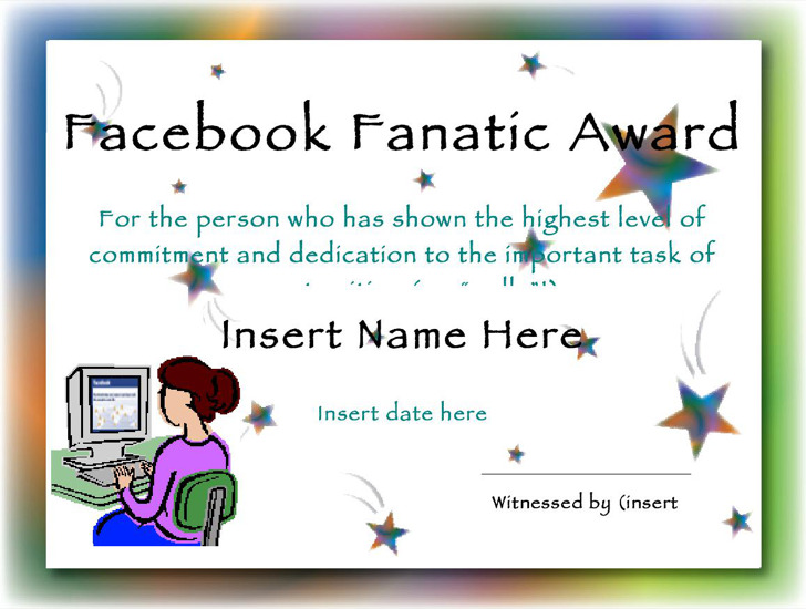facebook disclaimer template - 9 funny certificate templates free download