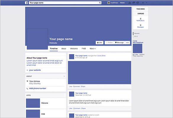 Facebook Page Mockup PSD Free Download