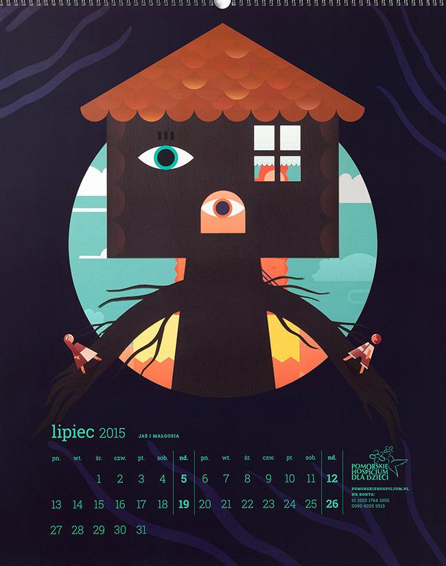 Fairytales Kids Wall Calendar