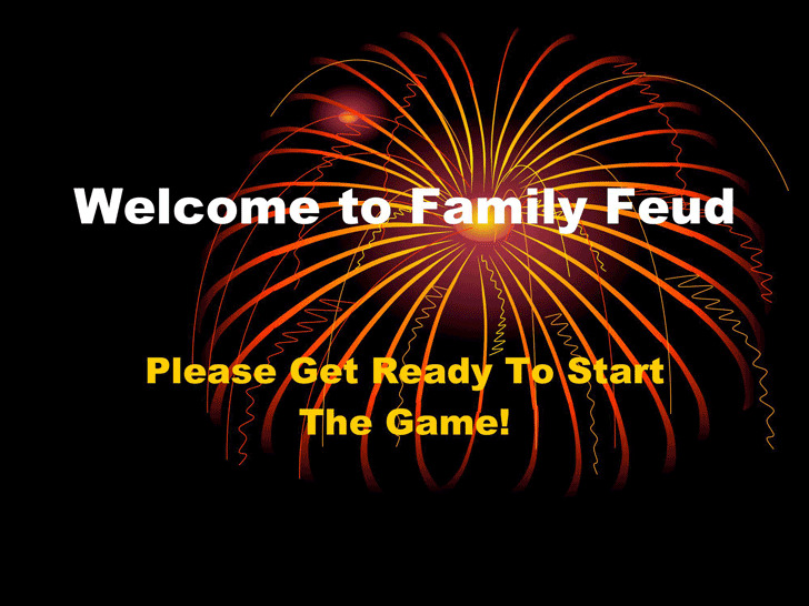 3 Family Feud Powerpoint Template Free Download