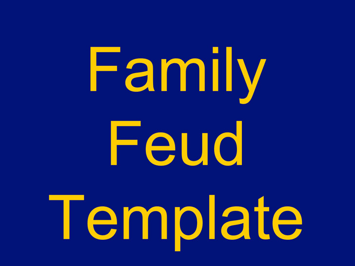 Family Feud Powerpoint Template 3