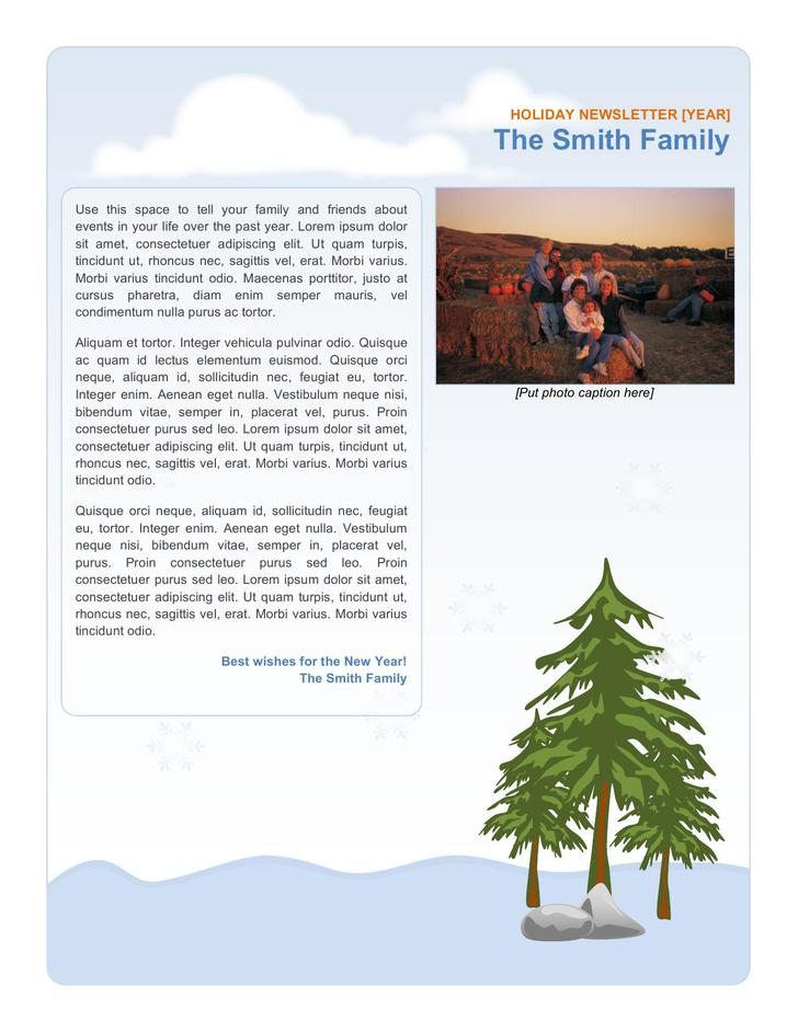 Family Holiday Newsletter Template Example