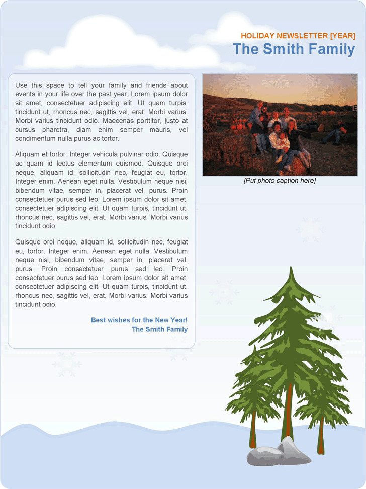 10 Family Newsletter Template Free Download