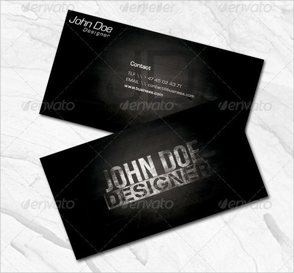 Fantastic Premium Black Business Card