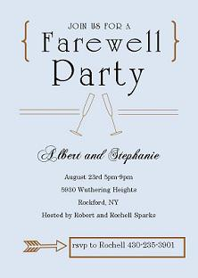 Farewell Card Invite Template Free Download