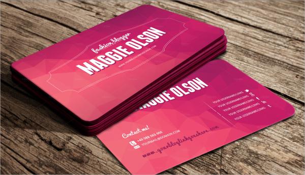 Fashion Blogger Business Card