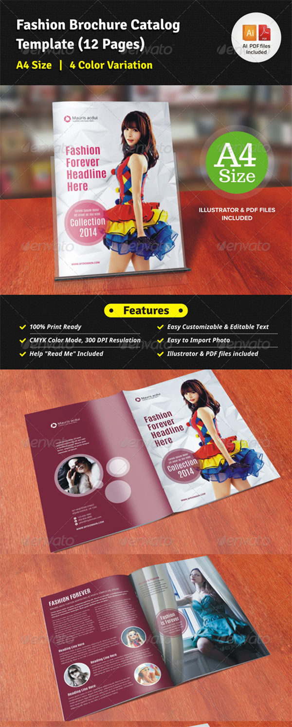 Fashion Brochure Catalog (12 Pages)
