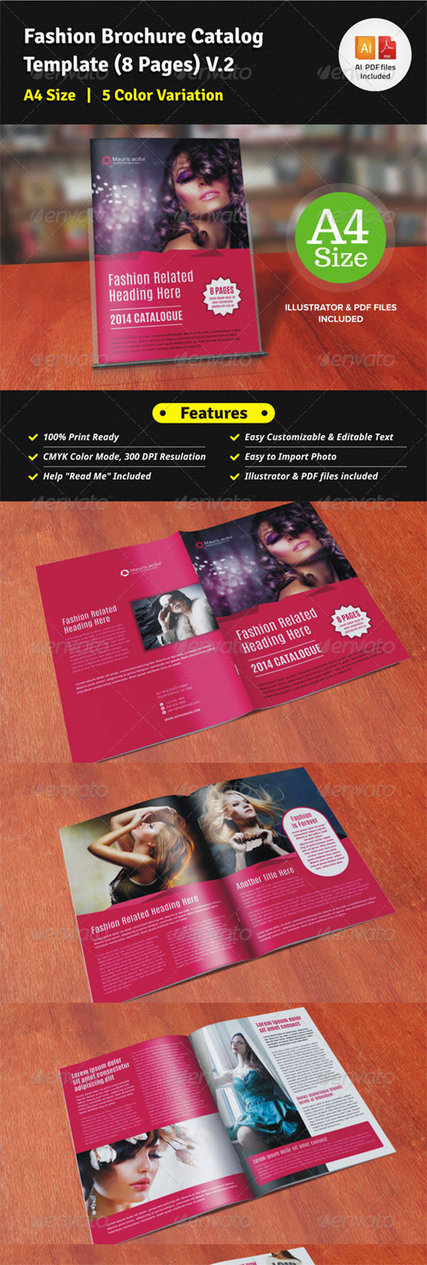 Fashion Brochure Catalog Template (12 Pages) V2
