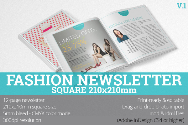 Fashion Print Newsletter Template