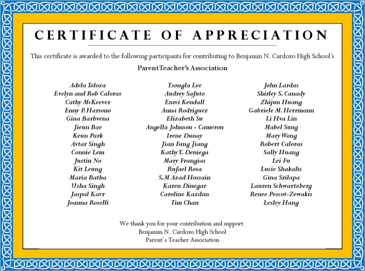 Father Appreciation Award Template