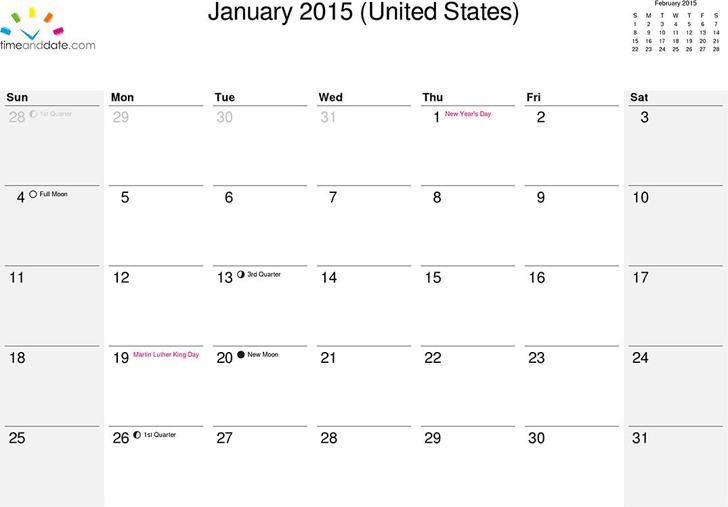 February 2015 Calendar 3