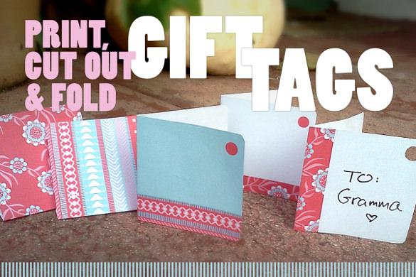 Festive Gift Tag Template Download