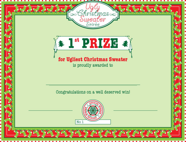 First Prize Winner Certificate Template